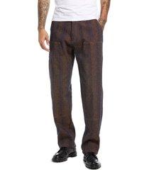 men's chinatown market snakeskin carpenter pants, size large - burgundy