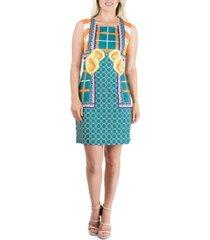 women's abstract floral sleeveless shift dress