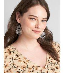 lane bryant women's lace chandelier earrings onesz black
