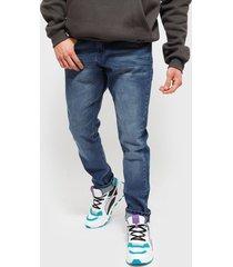 jeans ellus new slim tiro medio med blue azul - calce slim fit