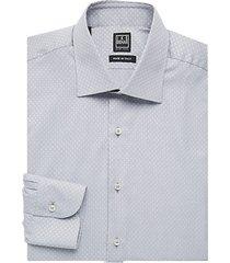 regular-fit patterned cotton dress shirt