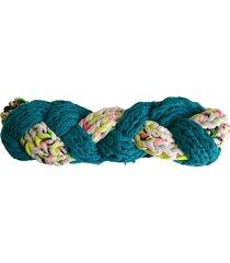 turbante tejido turquesa colores minka