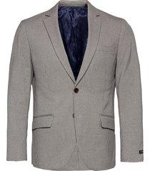 classic single breasted blazer in yarn-dyed pattern blazer kavaj grå scotch & soda