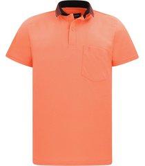 camiseta tipo polo coral hamer bolsillo bordado