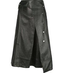 3.1 phillip lim trench a-line skirt - black