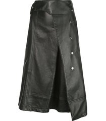 3.1 phillip lim trench a-line skirt - black