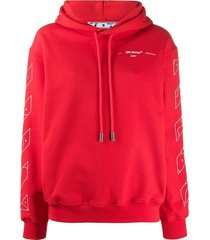 red puzzle arrow oversized hoodie
