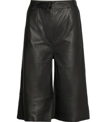 culotte leather trouser leather leggings/byxor svart mdk / munderingskompagniet