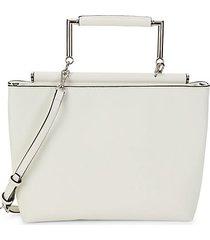 ellie faux leather satchel