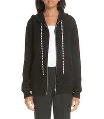 women's michael kors crystal drawstring cashmere blend hoodie