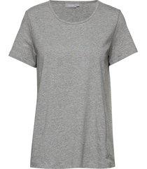 zaganic 2 t-shirt solid t-shirts & tops short-sleeved grå fransa