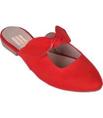 """zapatos baletas cómodos para mujer """"erika"""" con nudo de lazo rojo"""