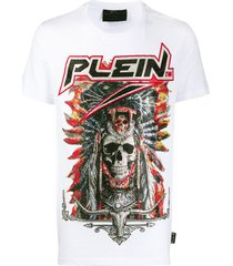 philipp plein embellished cowboy t-shirt - white