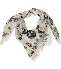 alexander mcqueen skull printed scarf