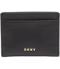 dkny bryant leather card holder, created for macy's
