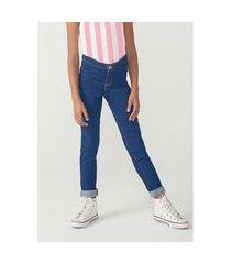 calça hering jeans jegging cós regular azul