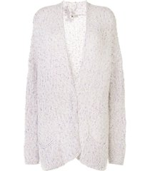 colombo sequinned open front cardigan - multicolour
