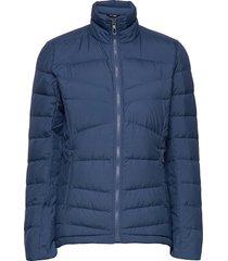 transition down jacket w outerwear sport jackets blauw salomon