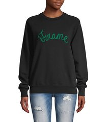 logo graphic cotton-blend sweatshirt