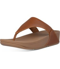 fitflop women's lulu leather toe-thongs sandal women's shoes