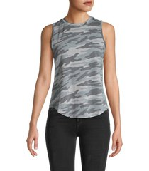 for the republic women's french terry camo tank top - size m