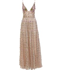 amen long dress with embroidery