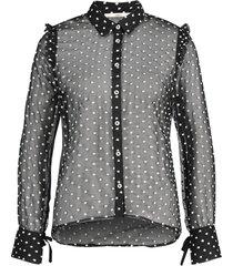 transparante blouse chelice  zwart