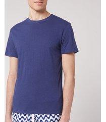 frescobol carioca men's crew neck t-shirt - navy blue - l