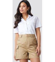 glamorous cargo shorts - brown,beige