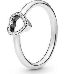 anel combinável moldura coração