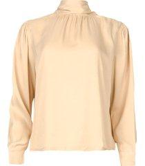 blouse met strikkraag toline  naturel