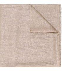 brunello cucinelli fine knit scarf - gold