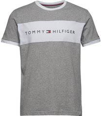 cn ss tee logo flag underwear t-shirts short-sleeved grå tommy hilfiger