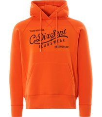 c17 jeans logo hooded sweatshirt | orange | swtf002-orn