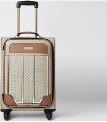 river island womens beige ri monogram suitcase