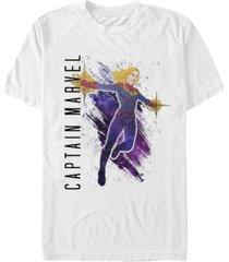 marvel men's captain marvel galaxy painted short sleeve t-shirt