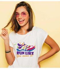 koszulka damska oversize run like