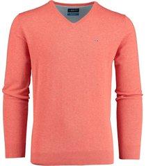 bos bright blue pullover roze v-hals 20105vi01bo/630 coral