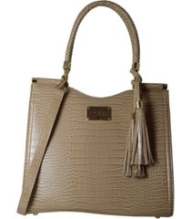 bebe natalie croco medium shopper