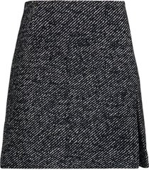 andamane black and white wool skirt with slit