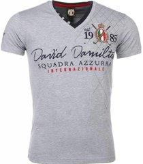 t-shirt korte mouw david copper korte mouwen borduur squadra azzura