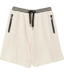 brunello cucinelli shorts with striped border