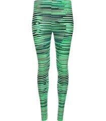 leggins deportivo a rayas verde color verde, talla xs
