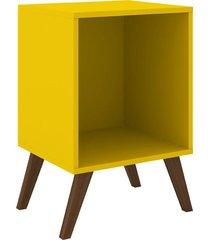nicho / cubo movelbento com pés, amarelo - rt3013