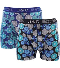 j&c heren boxer 2 pak 30053-s
