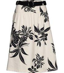 skirts light woven knälång kjol vit esprit casual