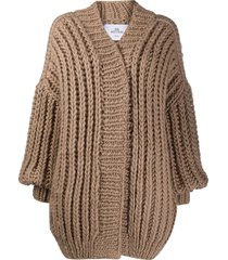 mr. mittens chunky wool cardigan - neutrals