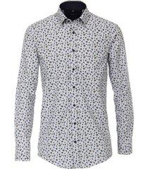 casual shirt casa moda wit bloemprint