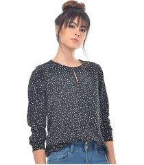 blusa para mujer en poliester negro color-negro-talla-xl