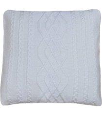 capa almofada tricot 40x40cm c/zãper sofa trico cod 1026 branco - branco - feminino - dafiti